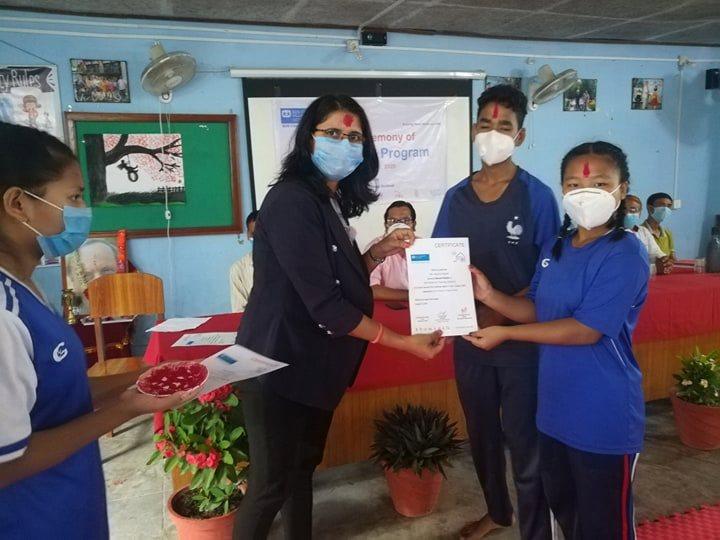 एसओएसका छात्रालाई १ हप्ते सेल्फ डिफेन्स तालिम