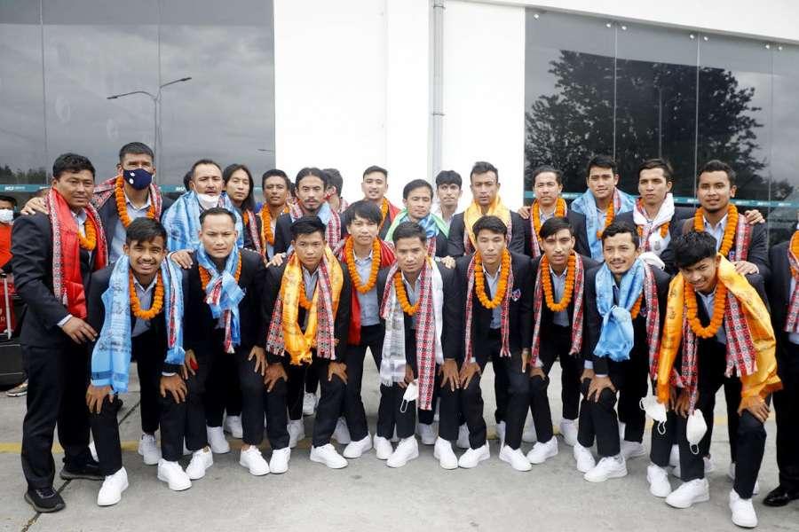 नेपाली फुटबल टोली स्वदेश फिर्ता